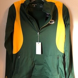 Green Bay Packers 3/4 zip. NWT